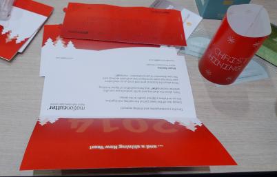 昨年のクリスマスにMotionCutterで加工・送付したクリスマスカード