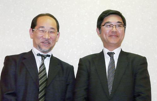 森澤彰彦社長(右)と森澤武士常務
