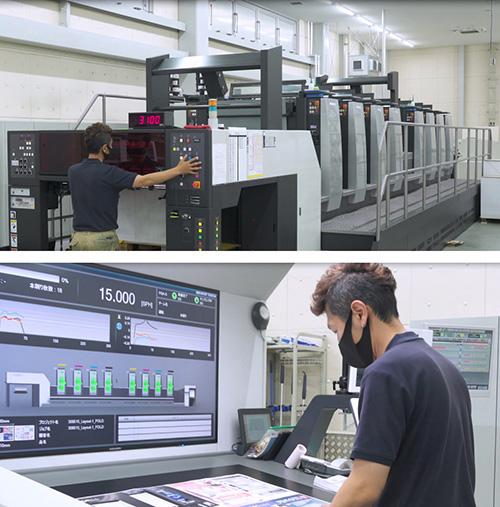 完全無処理CTP+LED-UV機の採用で、クリーンな作業環境を実現