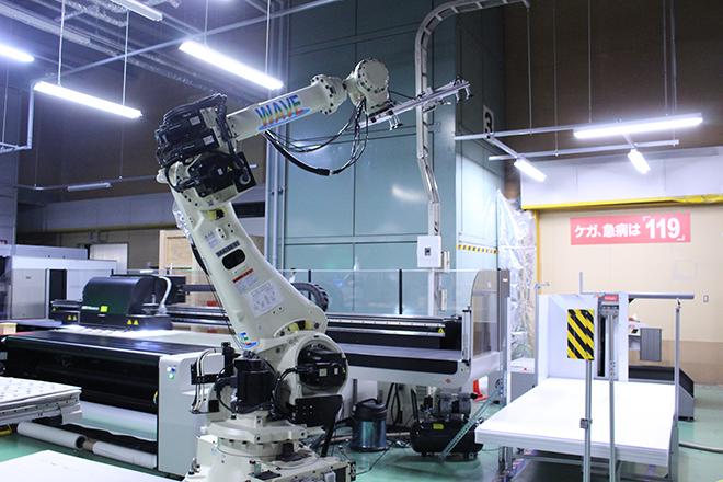 大判パネル印刷・カッティングの自動化システム