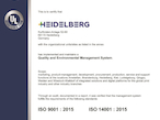 ハイデルベルグ社、国内外すべての生産・開発拠点でISOを更新