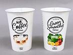 凸版印刷、国内初CNF使用の飲料向けカップでプラ使用量半減